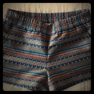Jcrew sz 0 printed shorts